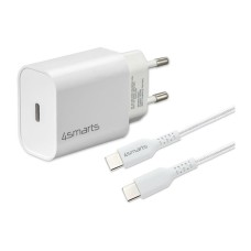 4smarts Wall Charger VoltPlug PD 20W+cable, USB-C for USB-C cable