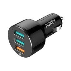 AUKEY Car Charger 42W black, 3-Port,USB-type A