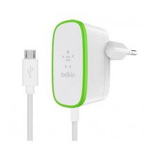 Belkin Home Charger Micro-USB, white, 12W / 2.4A, integriertes Micro-USB cable