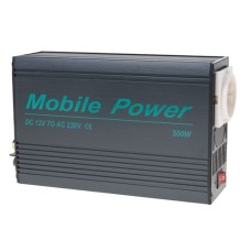 Mobile Power KV-500 Power Inverter,12V,500W, DC-AC converter 12VDC to 230VAC, 500Watt