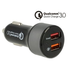 Navilock Car Adapter, 2x USB Typ-A, with Qualcomm Quick Charg3.0