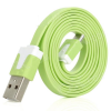 USB flat cable - micro-usb, 1 m, lime green